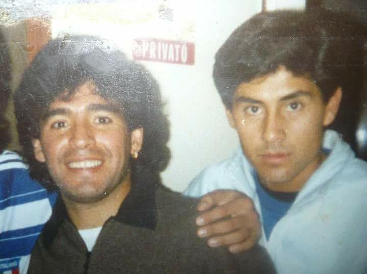 LUIS SOSA con diego Maradona en viaregio italia nos fue a visitar