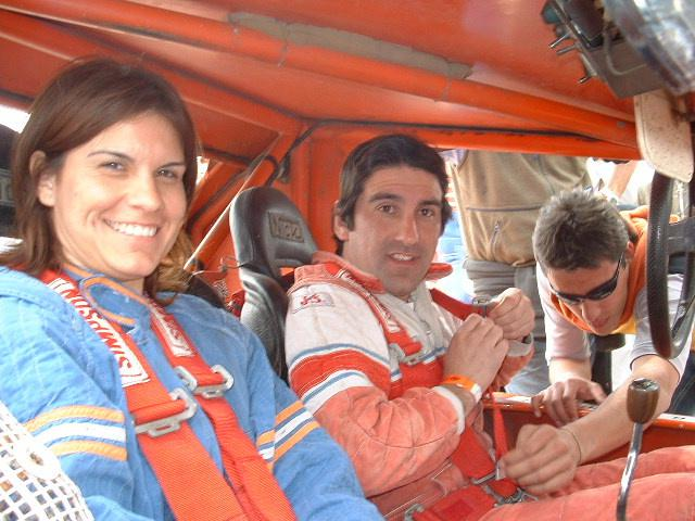 belmartino y hermana como copiloto